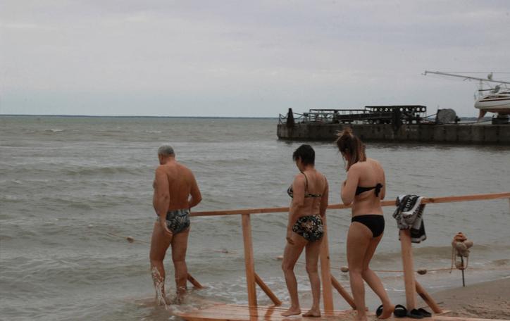 Крещенское купание ейск